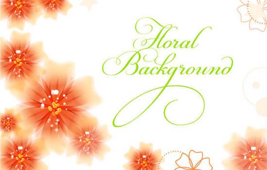 Vector Floral Background by lazunov