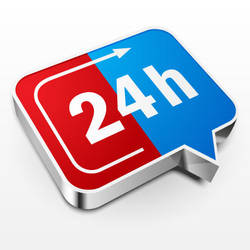 24 Hours a Day Icon by lazunov