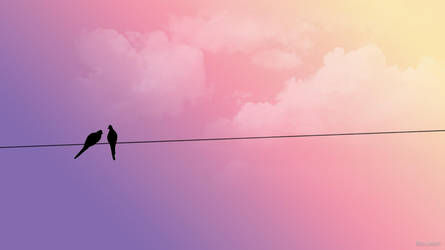 Love birds by Bleupearl