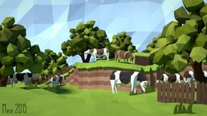 Cows [LowPoly] by Mezaka