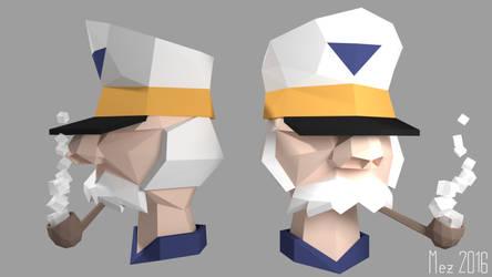 Character study: Captain [Lowpoly] by Mezaka