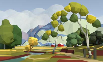 Landscape Study by Mezaka
