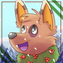 Fuzzby Christmas pfp 2018 by Fennie-Art