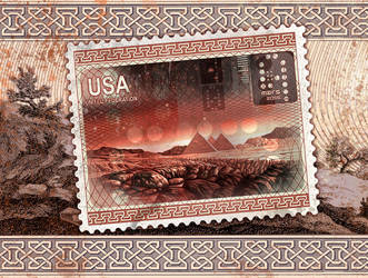 Red Planet stamp2 by arterie