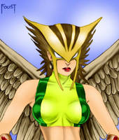 Hawkgirl by Foust by Mythical-Mommy