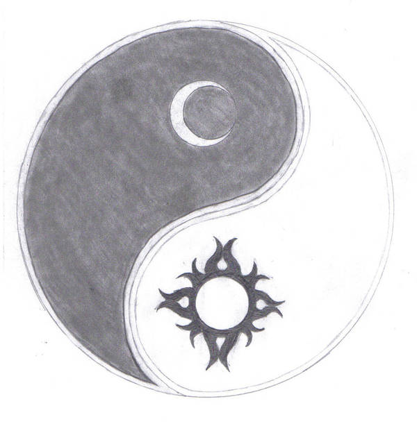 Ying Yang Sun And Moon