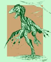 Velociraptor mongoliensis by Raphtil