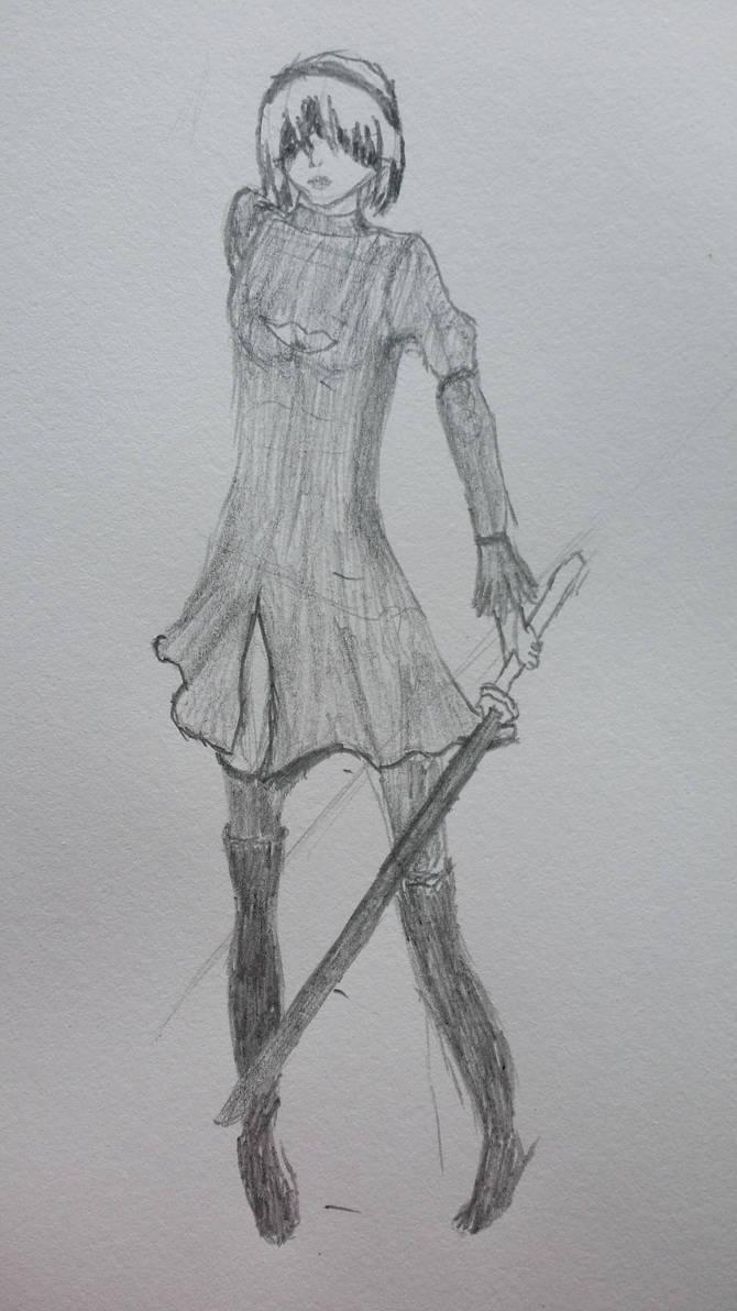 2b Fan art by catgirl450