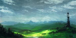- The Jagged Grassland - by vielmond