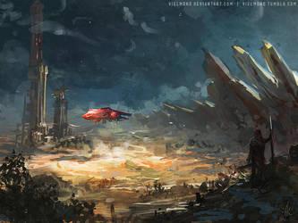 - Desert Landing - by vielmond