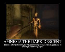 amnesia demotivator by Shexlay
