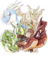 Dragons by azruka397