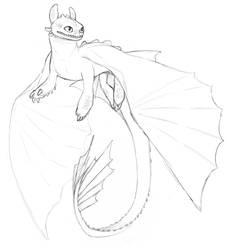 Toothless sketch by Skal-Men