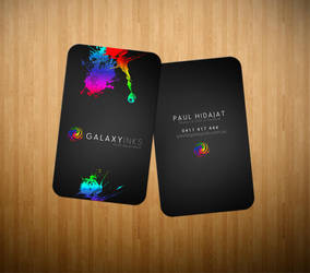 Galaxy Inks Logo and Cards by scottrichardson