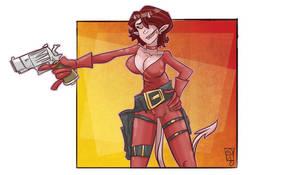 Gun Demon Girl by TheMyopicProphet
