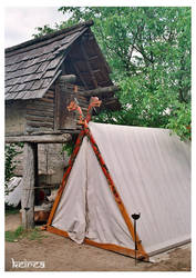 Hut and tent by Keirea