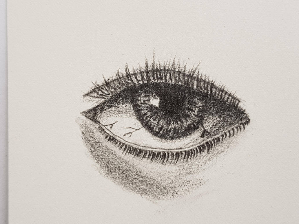 Eye on watercolor paper by dorofo