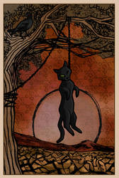 Black Cat tarot card ~ Witches of East End Contest by Bumblie-Bee