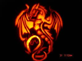 Dragon Pumpkin by cmdragonfire