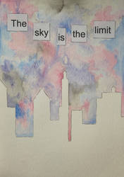 The Sky Is The Limit - Watercolour by Bobblegary