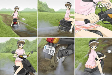 Scooter stuck 01 by gsg3232