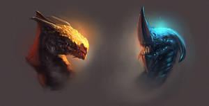Dragon Heads by WojtekFus