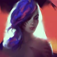 Glitch Girl by WojtekFus