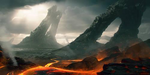 Lava Fields by WojtekFus