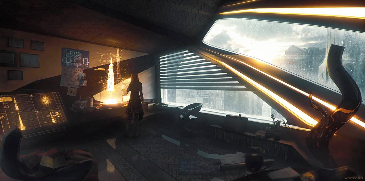 Futuristic Apartment by WojtekFus