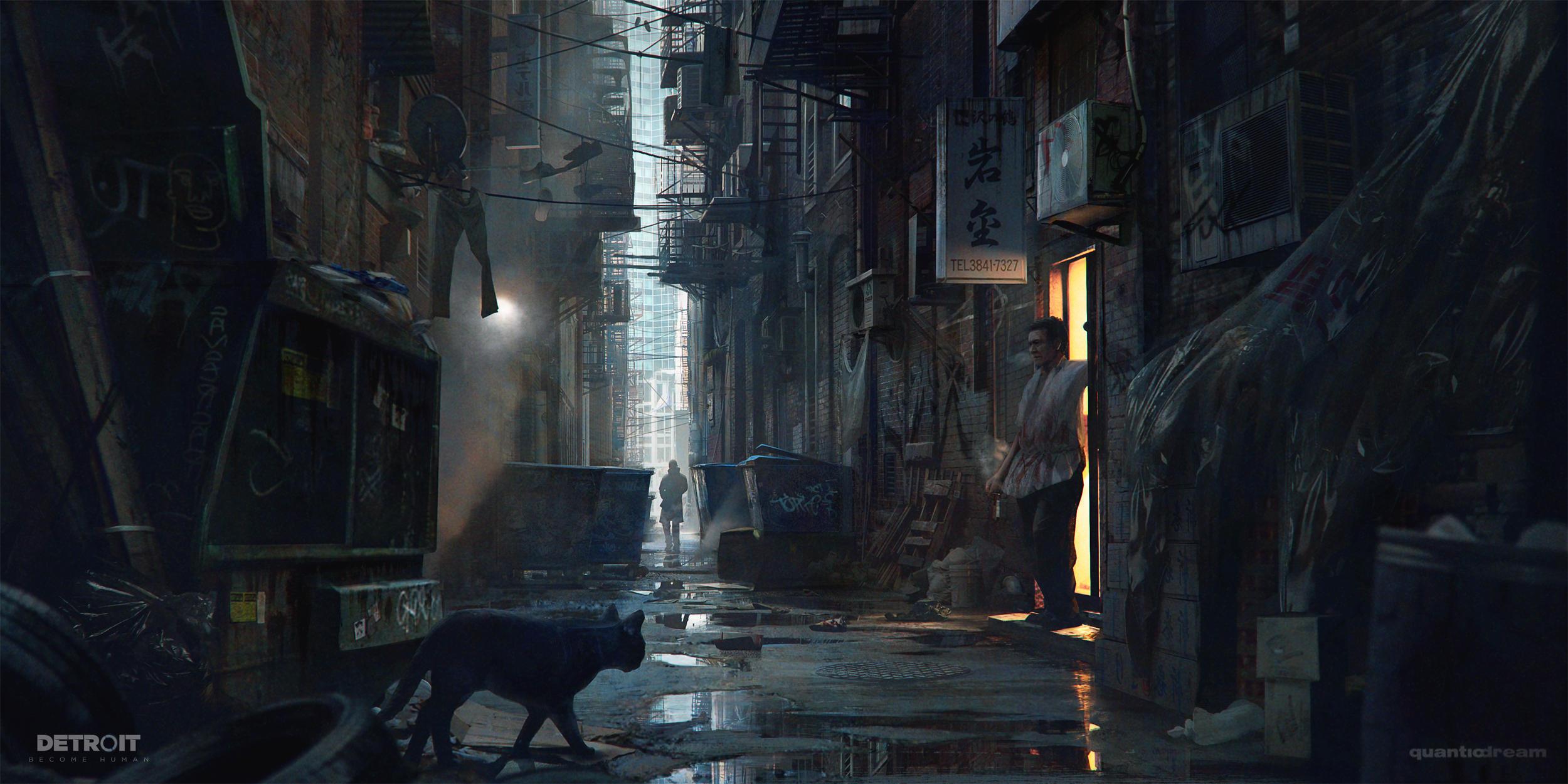 Alleyway - Detroit: Become Human by WojtekFus