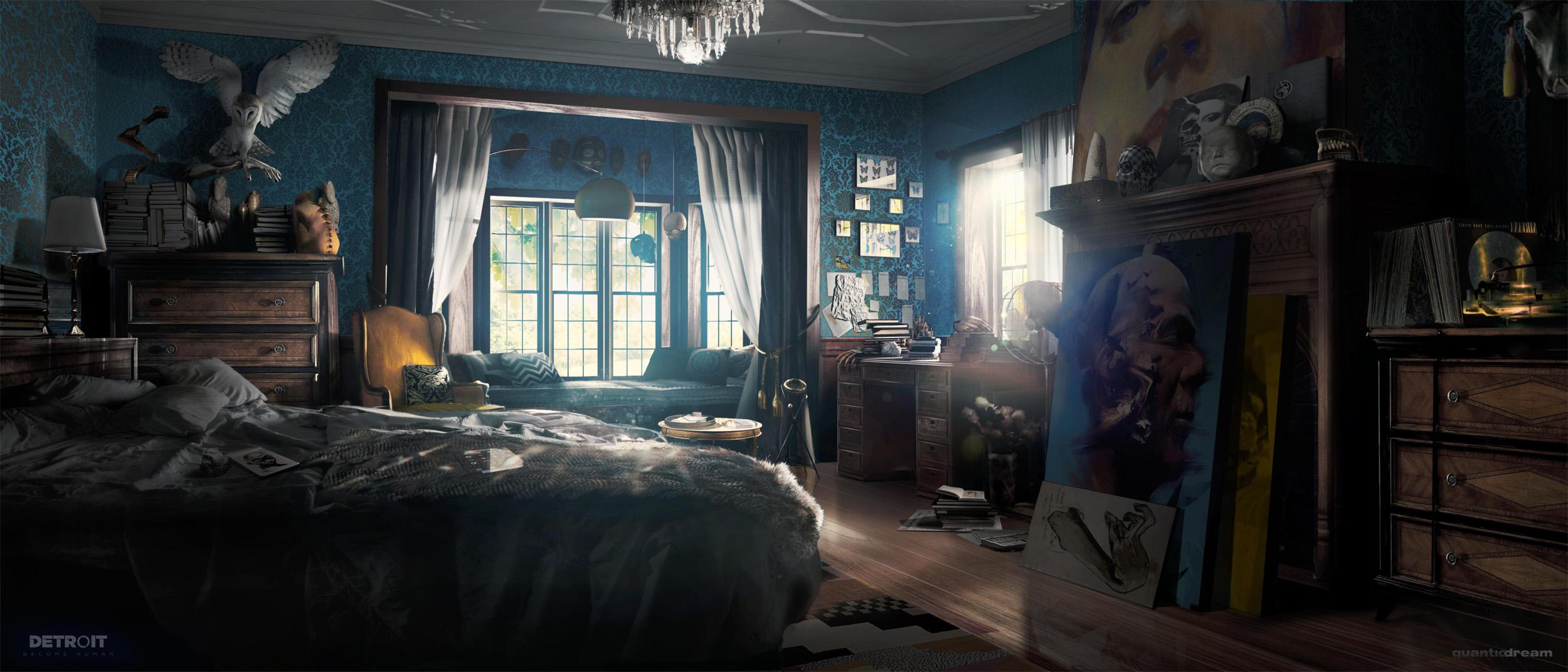 Carl's Bedroom - Detroit: Become Human by WojtekFus