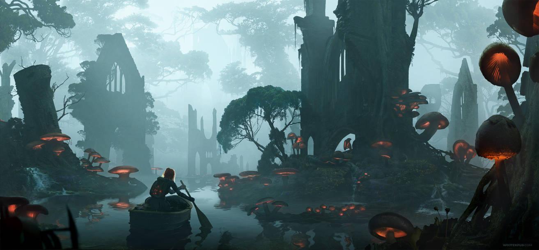 Mushroom Forest by WojtekFus