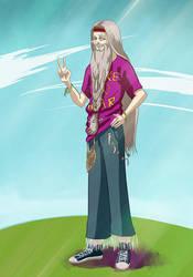 Dumbledore hippie by Natalliel