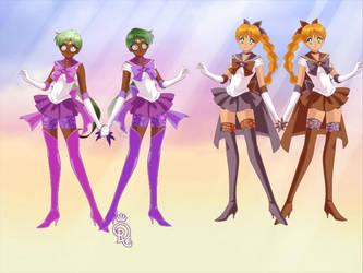 Sailor Senshi Twins Adopt by DarknessSlender