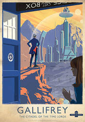 Doctor Who 'Gallifrey - Citadel of the Time Lords' by meitme