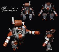LEGO.Steam battlesuit GNOMEREGAN-1 by DwalinF