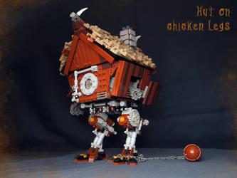 LEGO. Hut on chicken legs in battle position by DwalinF