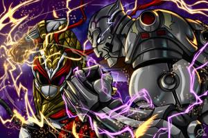 Ryu Ranger VS Kazuya by Osmar-Shotgun