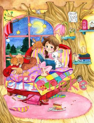 Bunny fairytale time by Tieneke