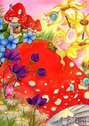 Mushroom-sleep by Tieneke