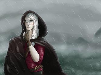 Nanook in the rain by Razeback