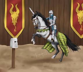 Riding with a sword by Razeback