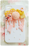 Sugar Pink iPhone4/4s Decoden Case by PeachMilktea
