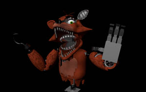 WIP Withered Foxy - Cinema 4D by HeroGollum