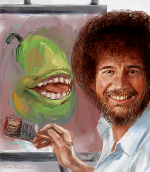 Happy Little Pear by Pew-PewStudio