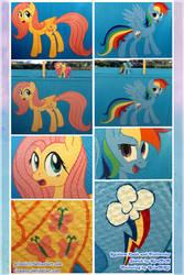 Fluttershy and Rainbow Dash collab by grimnir11
