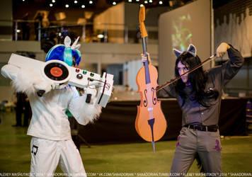 Vinyl Scratch and Octavia Melody cosplay by grimnir11