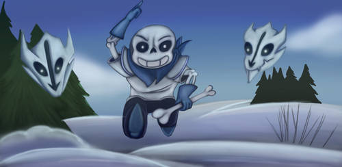 Be Prepared Human!-Underswap Sans by dragonfire1000