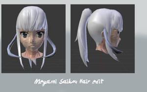 Megami Saikou Random Hair edit by YandereFan442