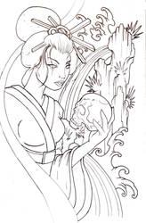 geishalineart by mojoncio